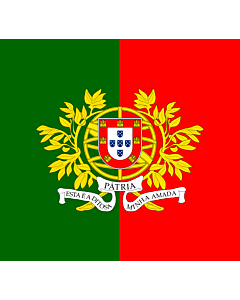 Fahne: Flagge: Military flag of Portugal | Military flag of Portugal  ratio 12 13