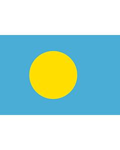 Fahne: Flagge: Palau