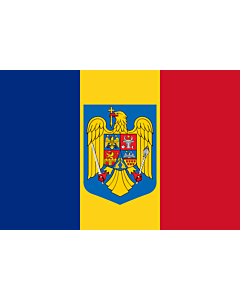 Fahne: Flagge: Romania coat of arms | Romania with the coat of arms