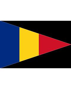Fahne: Flagge: Romanian Lieutenant Commander  1939