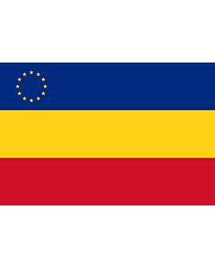 Fahne: Flagge: Romanian minority in Serbia | Serbia rumeenlaste lipp | Rumunjske nacionalne manjine u Srbiji | Флаг румын в Сербии