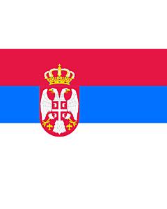 Fahne: Flagge: Serbien