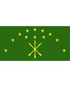 Fahne: Flagge: Republik Adygeja