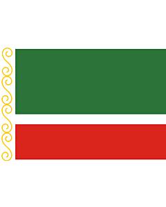 Fahne: Flagge: Tschetschenien (Tschetschenische Republik)