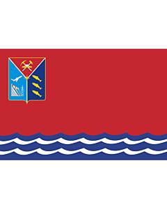Fahne: Flagge: OblastMagadan