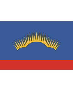 Fahne: Flagge: OblastMurmansk