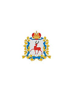 Fahne: Flagge: OblastNischni Nowgorod