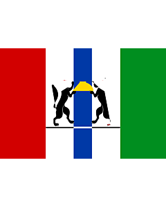 Fahne: Flagge: OblastNowosibirsk