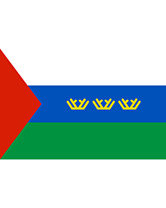 Fahne: Flagge: OblastTjumen