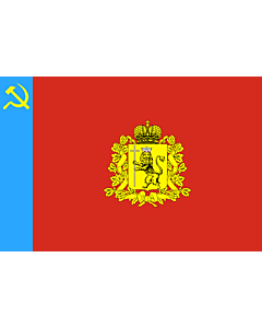 Fahne: Flagge: OblastWladimir