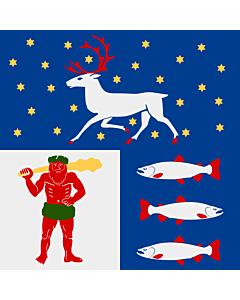 Fahne: Flagge: Västerbotten