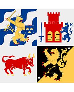 Fahne: Flagge: Västra Götalands län