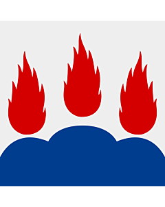 Fahne: Flagge: Västmanland