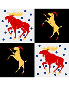 Fahne: Flagge: Gävleborgs län