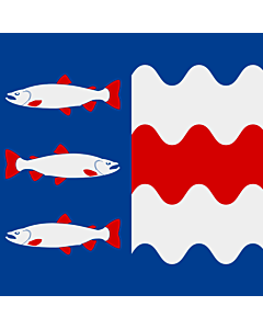 Fahne: Flagge: Västernorrlands