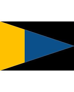 Fahne: Flagge: Naval Rank Flag of Sweden - Örlogsgaljadet | Command pennant | Örlogsgaljadet