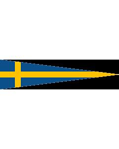 Fahne: Flagge: Naval Rank Flag of Sweden - Divisionschef | Swedish naval rank flag for a Division Commander | Tecken för förbandschef Divisionschef