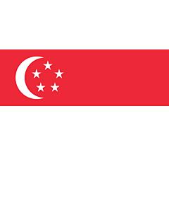 Fahne: Flagge: Singapur