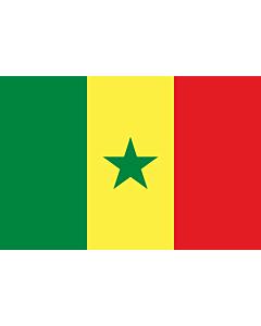 Fahne: Flagge: Senegal