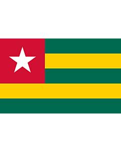 Fahne: Flagge: Togo