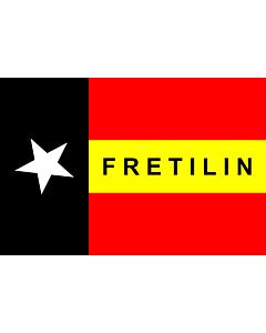 Fahne: Flagge: FRETILIN  East Timor   FRETILIN   FRETILIN nian