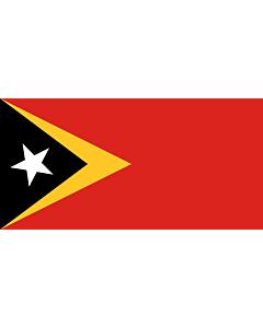 Fahne: Flagge: Osttimor (Timor-Leste)