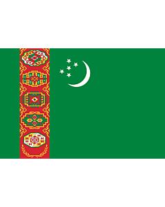 Fahne: Flagge: Turkmenistan