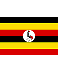 Fahne: Flagge: Uganda