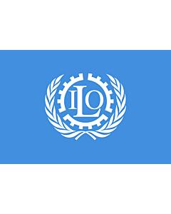 Fahne: Flagge: Internationale Arbeitsorganisation