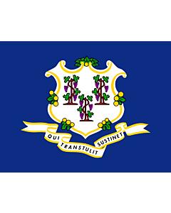 Fahne: Flagge: Connecticut