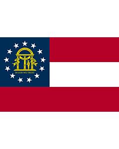 Fahne: Flagge: Georgia