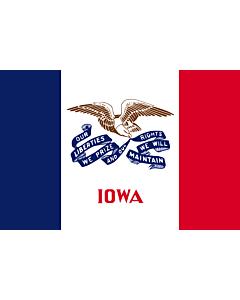 Fahne: Flagge: Iowa