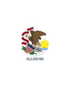 Fahne: Flagge: Illinois