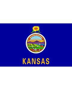 Fahne: Flagge: Kansas