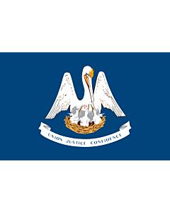 Fahne: Flagge: Louisiana