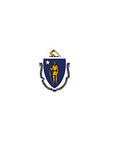 Fahne: Flagge: Massachusetts