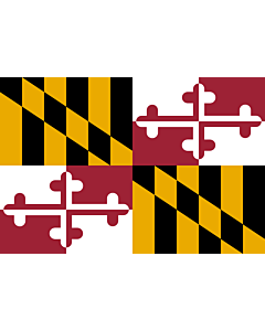 Fahne: Flagge: Maryland