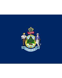 Fahne: Flagge: Maine