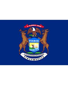 Fahne: Flagge: Michigan