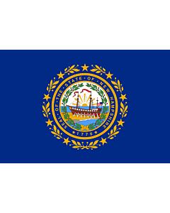 Fahne: Flagge: New Hampshire