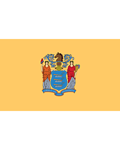 Fahne: Flagge: New Jersey