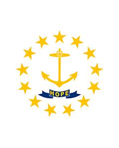 Fahne: Flagge: Rhode Island