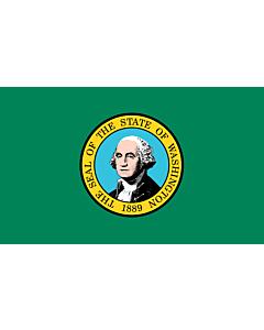 Fahne: Flagge: Washington