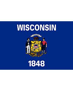 Fahne: Flagge: Wisconsin