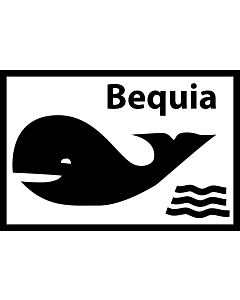 Fahne: Flagge: Inoffizielle Flagge der Insel Bequia/St