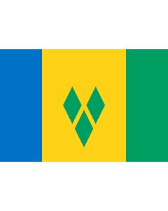Fahne: Flagge: St. Vincent und die Grenadinen