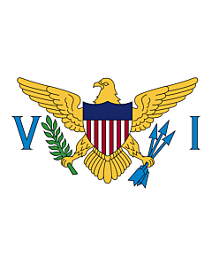 Fahne: Flagge: Amerikanische Jungferninseln