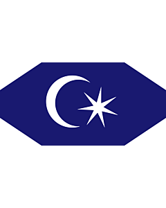 Fahne: Flagge: Permaisuri Johor | Standard of the Permaisuri of Johor, Malaysia