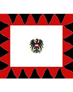 Fahne: Flagge: Tander für ein General von Österreich