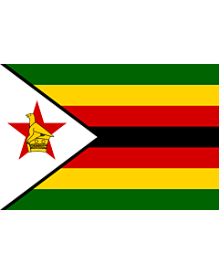 Fahne: Flagge: Simbabwe